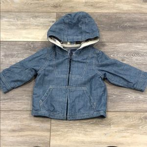 BabyGap Chambray Boys Jacket with hoodie